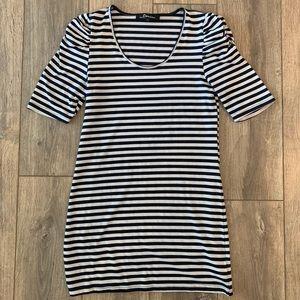 Domino Cami Scoop Neck Dress - Navy/White Stripe